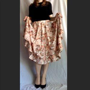 Flowy rose skirt